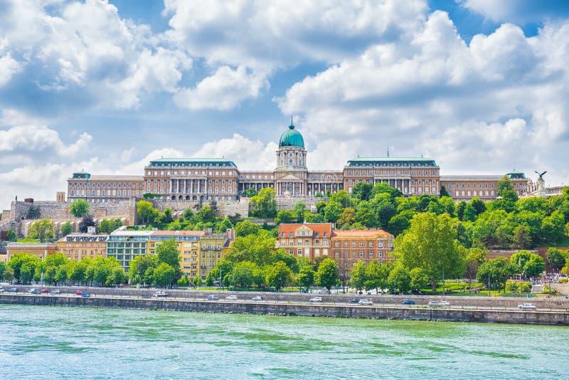 Buda Castle Royal Palace in Boedapest, Hongarije stock fotografie