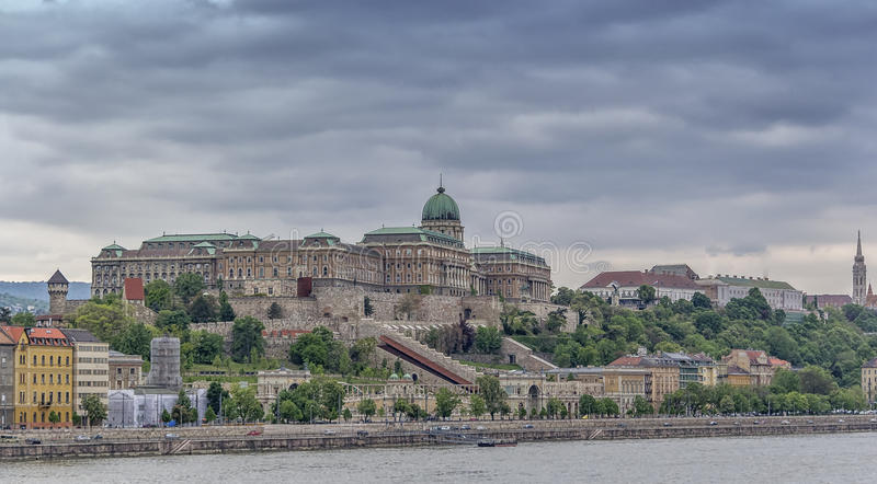 Buda Castle,the royal palace in Budapest royalty free stock images