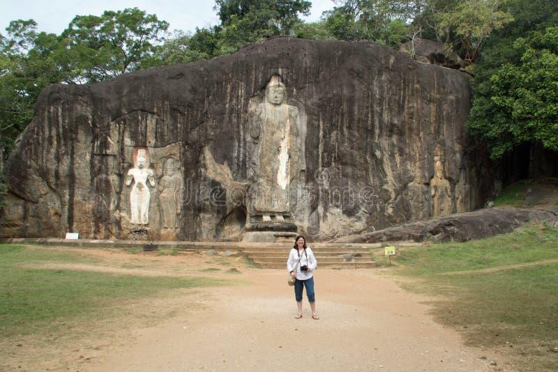 Buda com turista imagem de stock royalty free