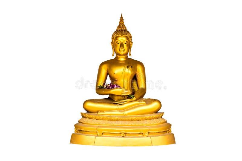 Buda de demissão dourada de Vakkali isolada no fundo branco imagens de stock royalty free