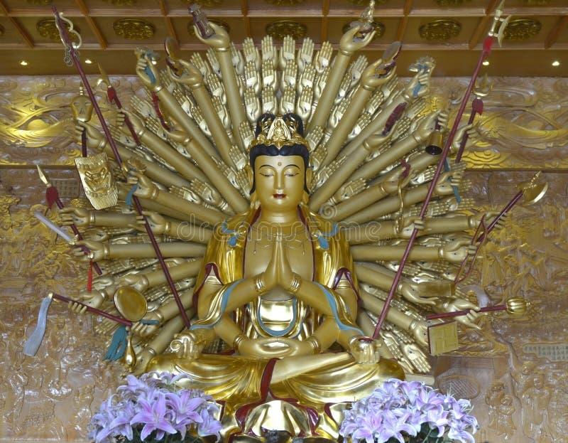 Buda de Guanyin mil mãos ilustração royalty free