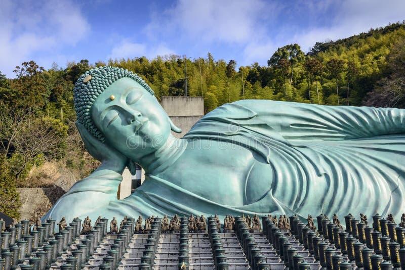 Buda de reclinação de Fukuoka imagem de stock
