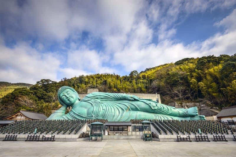 Buda de reclinação de Fukuoka imagem de stock royalty free