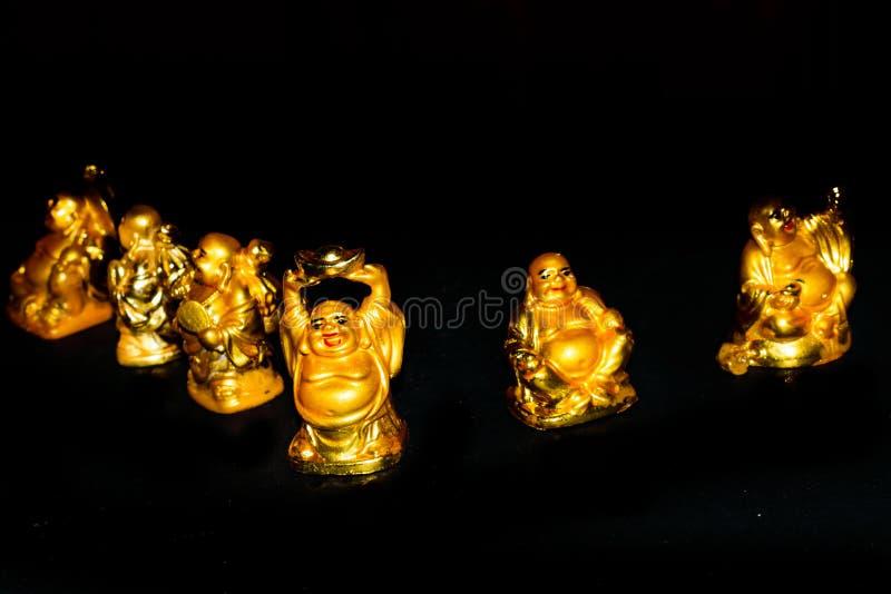 Buda de risa de oro fotografía de archivo libre de regalías