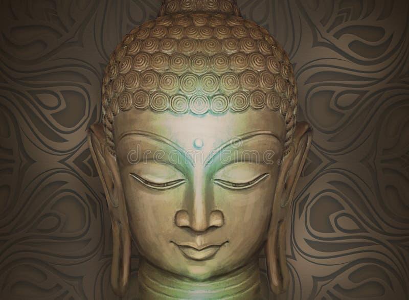 Buda de sorriso principal ilustração royalty free