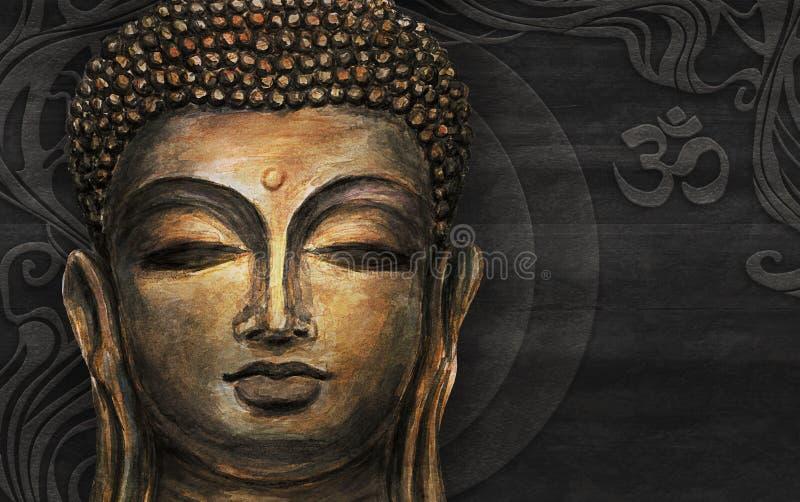 Buda de sorriso principal ilustração do vetor