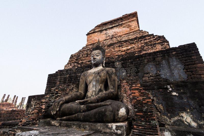 Buda de Sukhothai foto de stock