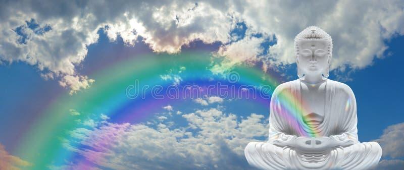 Buda do arco-íris do Mindfulness imagem de stock