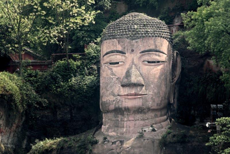 Buda dourada de Leshan fotos de stock