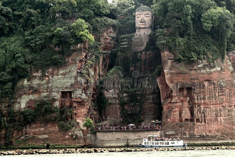 Buda dourada de Leshan imagem de stock royalty free