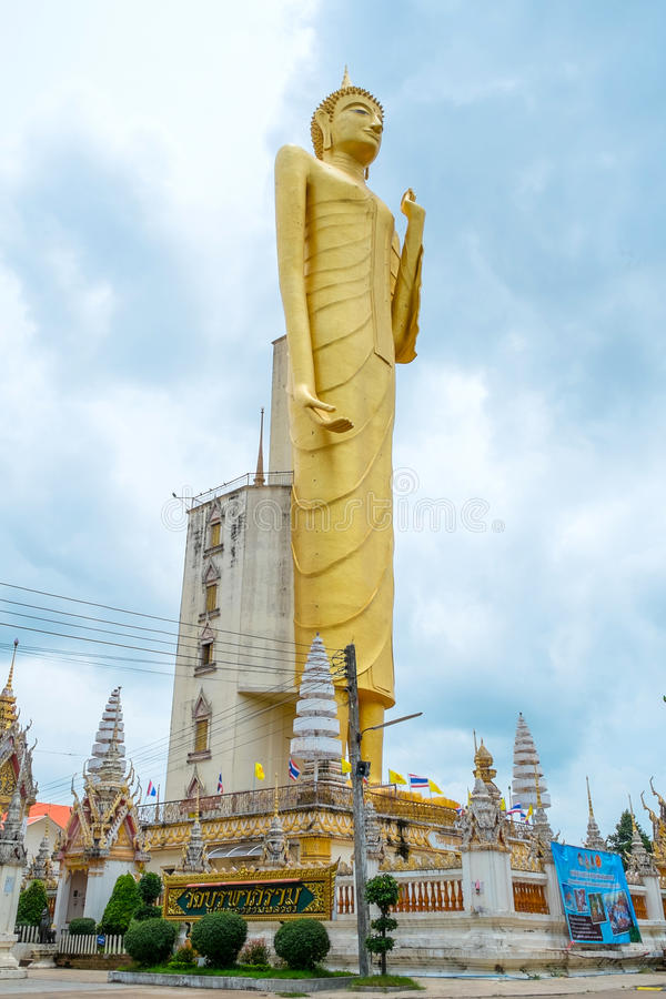 A Buda dourada gigante, budismo, Tailândia fotografia de stock royalty free