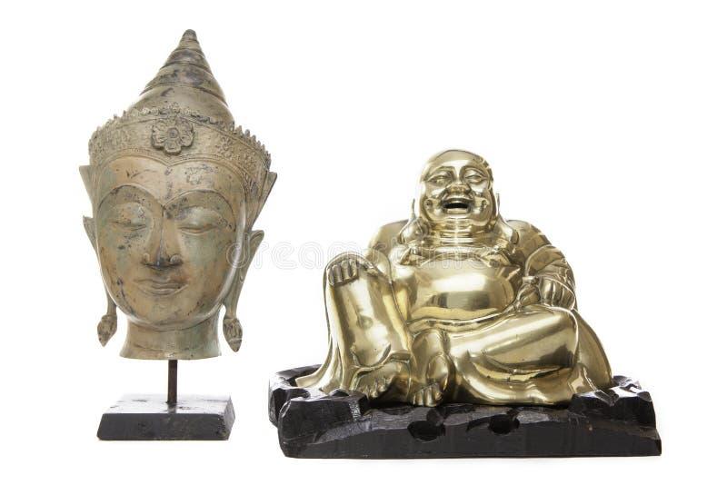 Buda e a monge de riso fotografia de stock royalty free