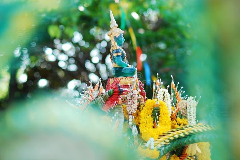Buda esmeralda verde en el festival Tailandia de Songkran foto de archivo libre de regalías