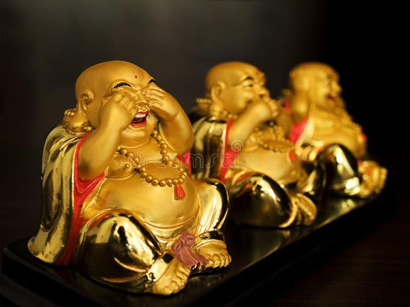 Buda expresses emotions royalty free stock image