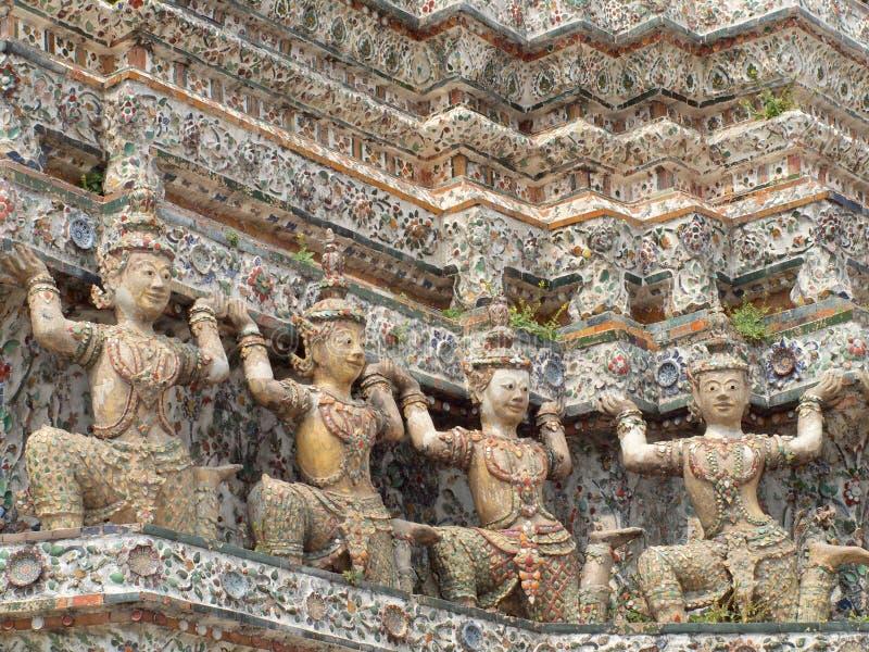 Buda gigante en la pagoda de Wat Arun fotografía de archivo libre de regalías
