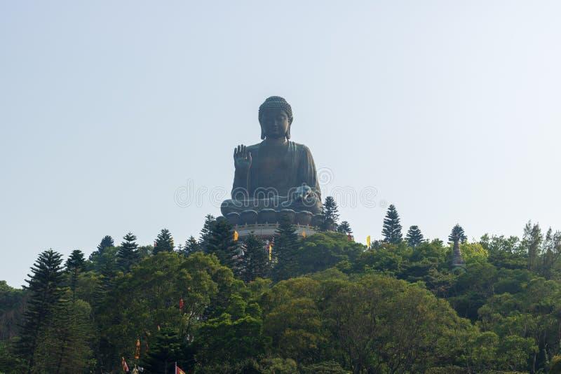 Buda gigante statue/Po Lin Monastery no sibilo de Ngong, Hong Kong imagem de stock