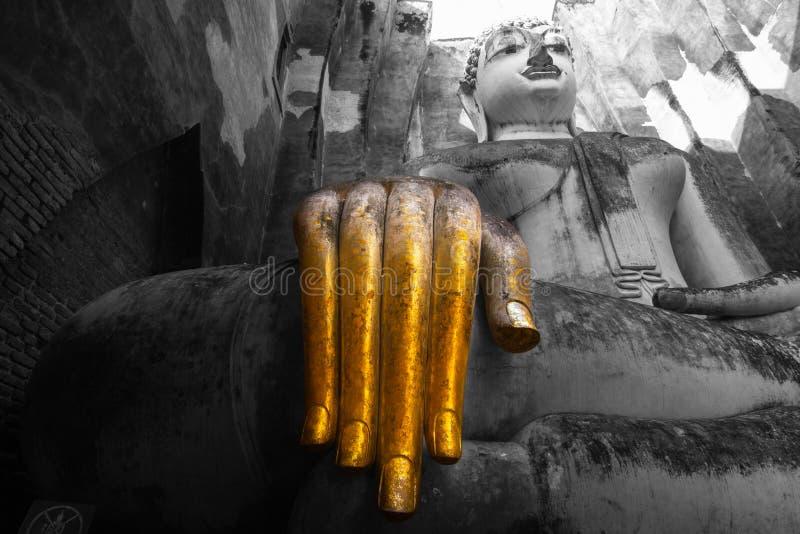 A Buda grande é a arte de Sukhothai Tailândia fotos de stock royalty free