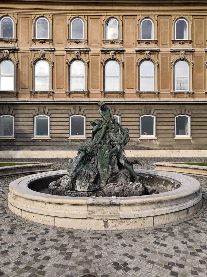 BUDA kasztelu statui BUDAPEST WĘGRY podróż fotografia stock