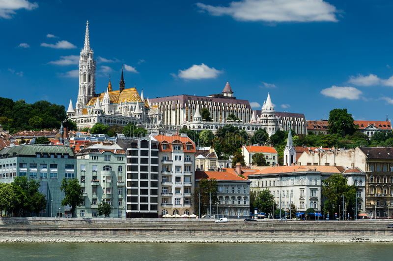 Buda and Matthias Church. Old city of Budapest, Hungary. stock photo
