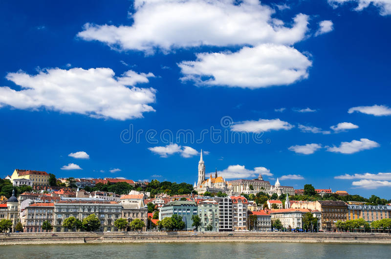 Buda and Matthias Church. Old city of Budapest, Hungary. stock images
