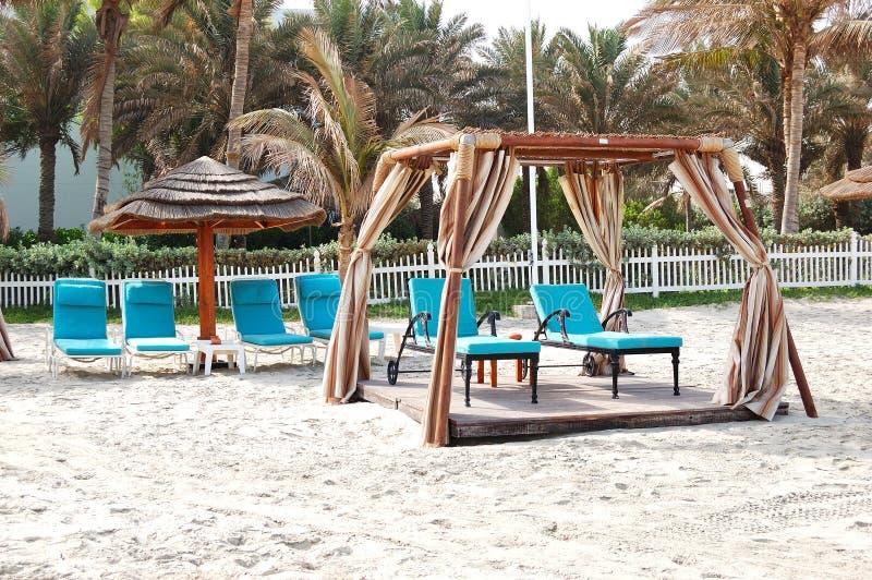 Buda na plaży luksusowy hotel obraz royalty free