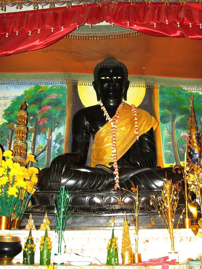 Buda negro en Vang Viang, Laos fotos de archivo libres de regalías