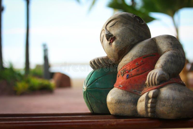 Buda que se enfría en un melón fotos de archivo libres de regalías