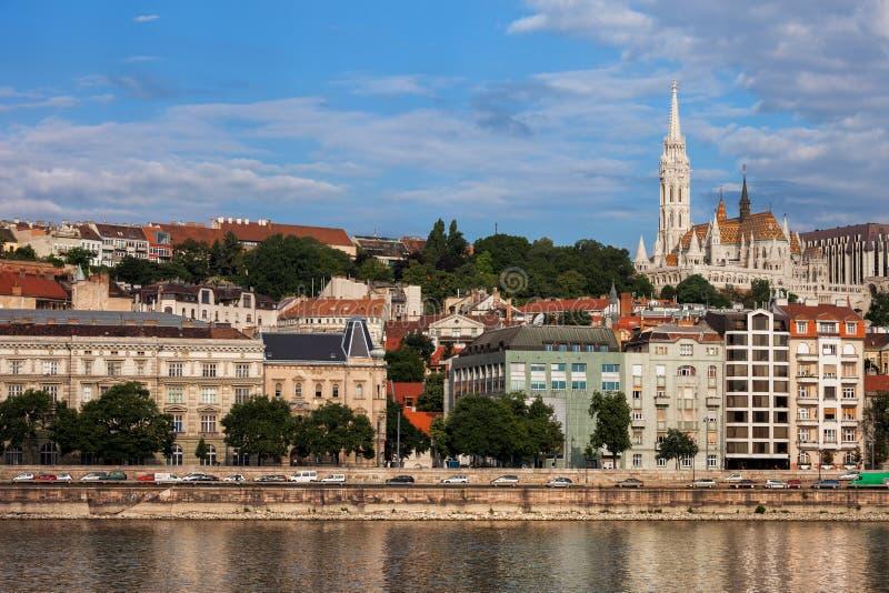 Buda Skyline in Budapest City royalty free stock photos