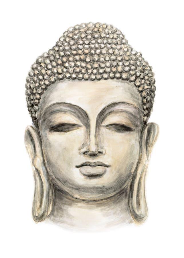 Buda sonriente principal ilustración del vector