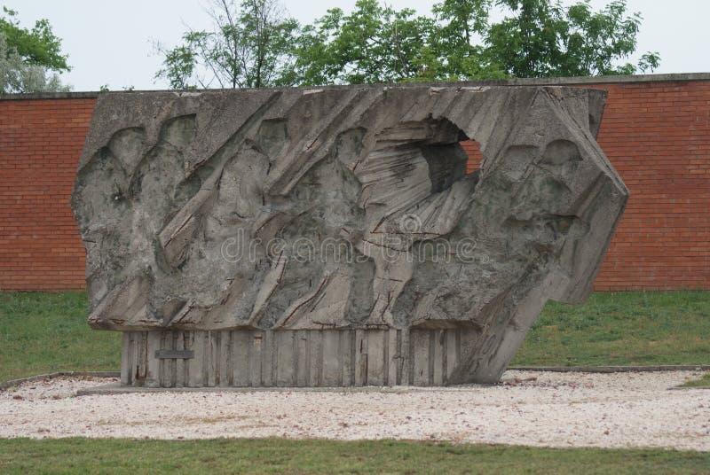 The Buda Volunteers Regiment Memorial - Memento Park - Budapest. The Buda Volunteers Regiment Memorial - Soviet Star - The Unending Promenade of Workers' stock images