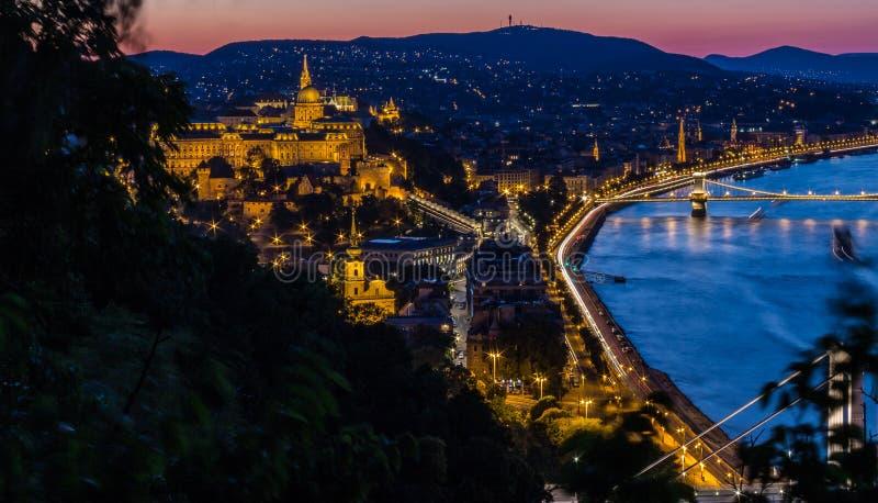 Buda von Gellert-Hügel - Budapest - Ungarn lizenzfreie stockfotografie