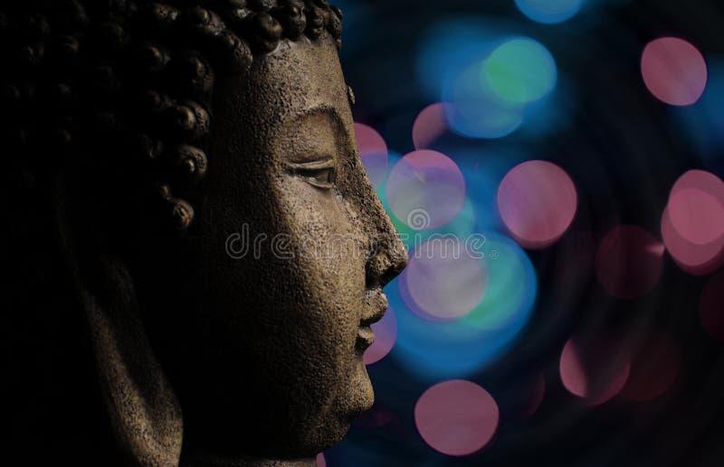 Buda y fondo abstracto imágenes de archivo libres de regalías
