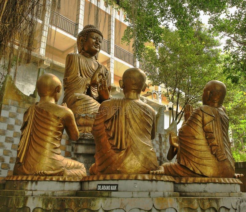 Buda y Sangha fotos de archivo libres de regalías