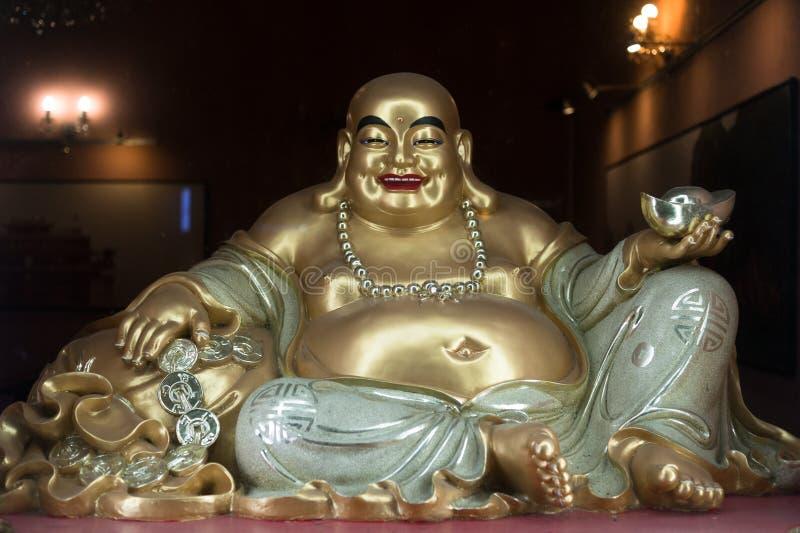 Budai/Hotei, grasa sonriente y monje budista obeso imagen de archivo