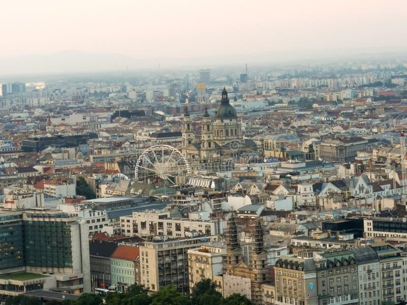 Budapest överblick arkivbilder