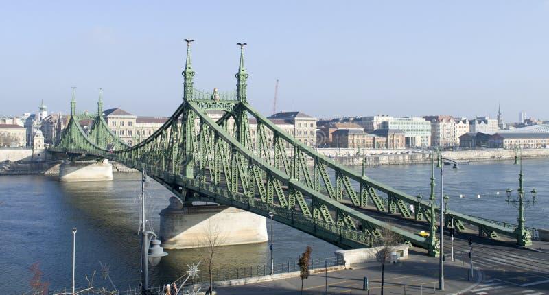 Budapest Łańcuszkowy most obrazy royalty free