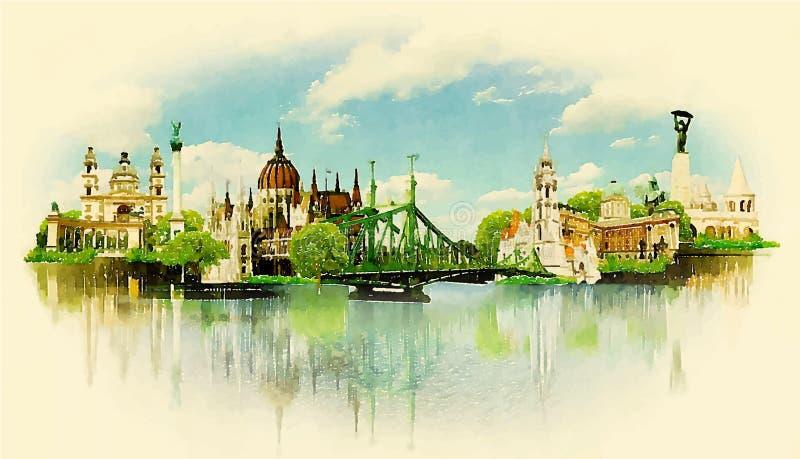 Budapest ilustración del vector