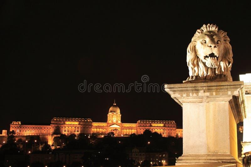 Budapest bis zum Nacht lizenzfreies stockbild