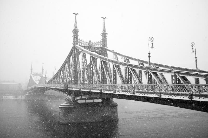 budapest bridżowa swoboda obrazy stock