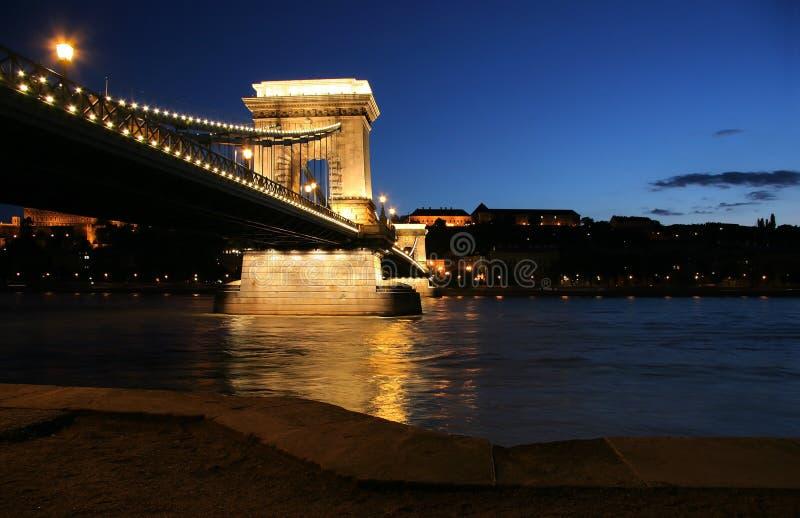 budapest bridżowy łańcuch zdjęcie royalty free