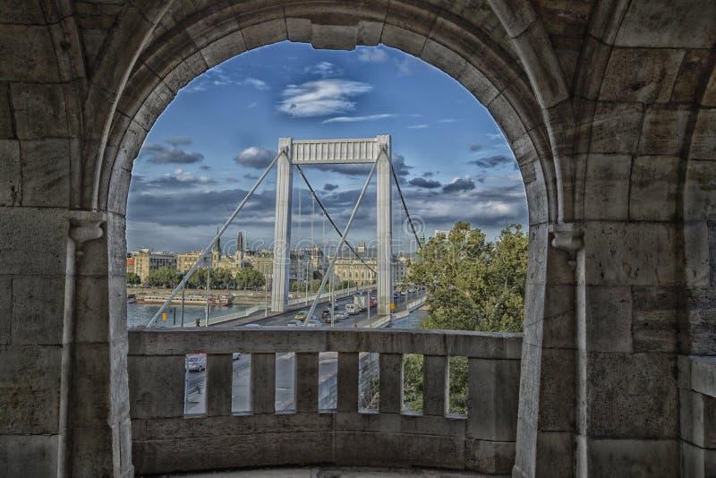budapest bridżowy elisabeth fotografia stock