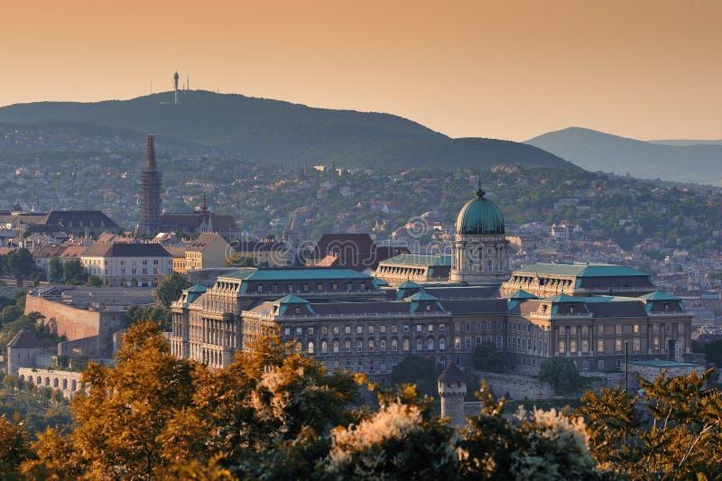 Budapest (Buda Schloss) stockbilder