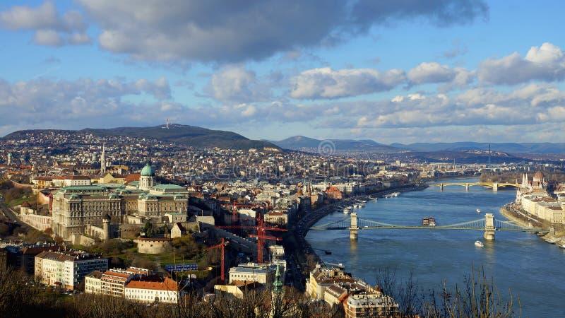 budapest budynku miasta Danube sławna Hungary krajowa panoramy parlamentu rzeka przeglądać fotografia stock