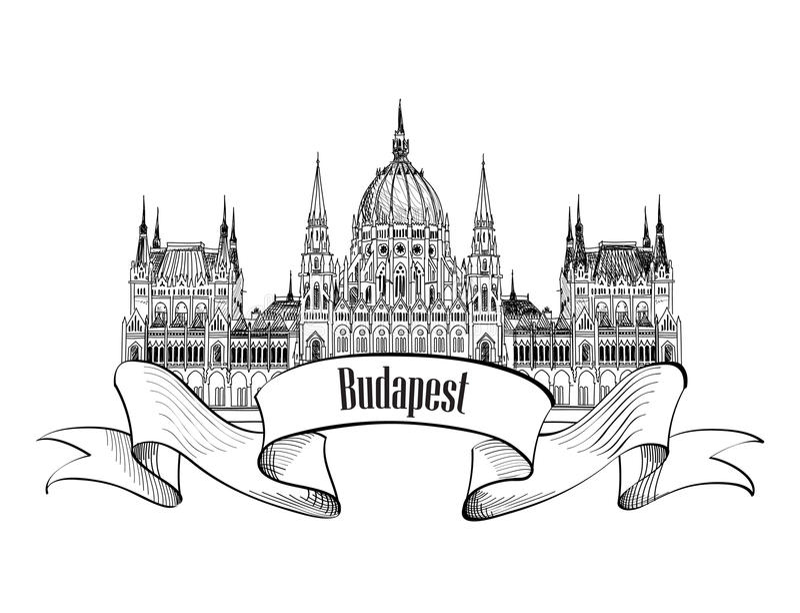 budapest budynku parlament ilustracja wektor