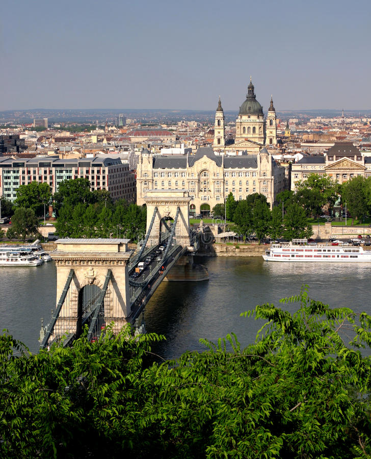Download Budapest chain bridge stock image. Image of capital, connect - 13541817