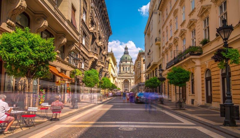 Budapest City street stock photography