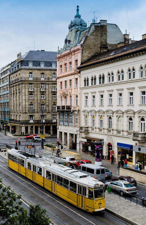 Budapest city tram stock images