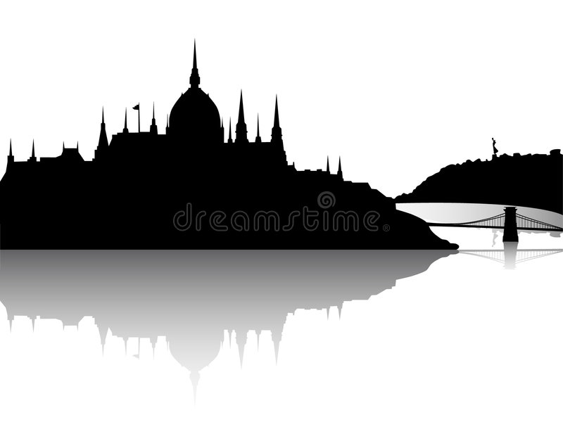 Download Budapest City View With Reflection Royalty Free Stock Photos - Image: 8461988