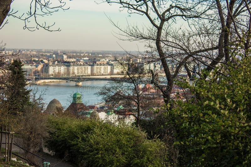 Budapest cityscape afternoon over Danube river. Budapest cityscape afternoon over Danube river royalty free stock photo