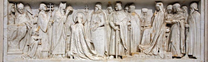 Budapest - couronnement saint de rue Stephen de roi images libres de droits